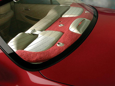 Custom Tailored Rear Deck Covers Designer Velour for 2004 Chevrolet Cavalier