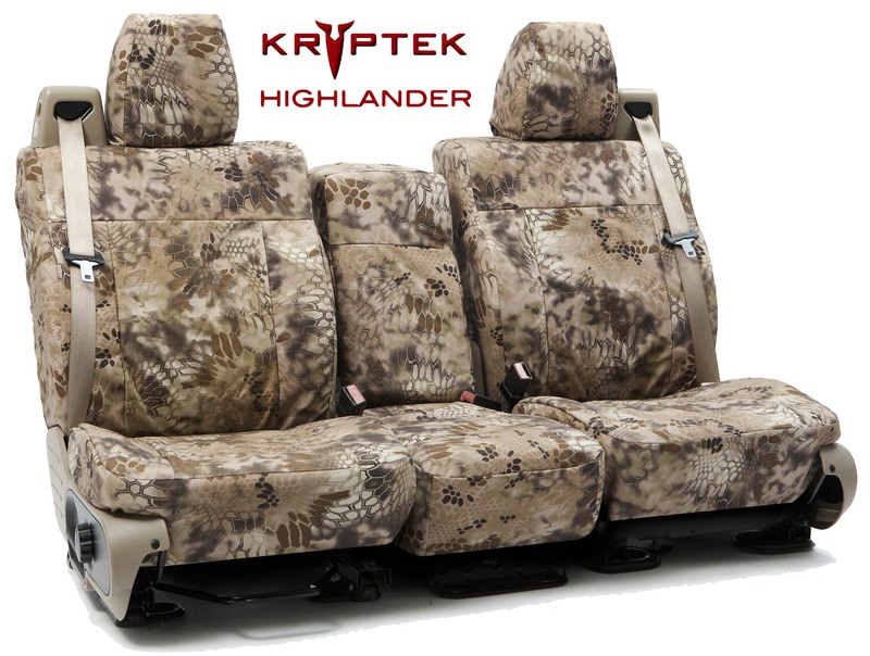 Custom Seat Covers Kryptek Camo for 1999 Toyota Corolla Sedan